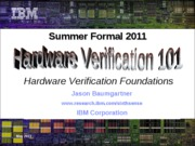 FV_Summer_School2011__HW_Verif
