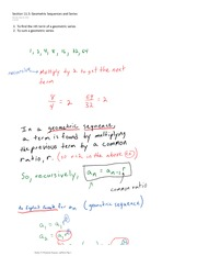 Section 11.3 Geometric Sequences and Series