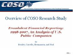 COSO Fraud Report 1998-2007