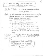 Physics 365_Class Notes on Quantum Many-Particle Theory, Quantum Field Theory and Wick's Theorem