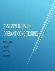 Assignment-05.03 Operant Conditioning.pptx