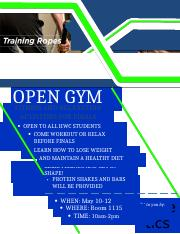 OPEN GYM FLYER