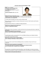 OJT Success Stories and Testimonials Form-DAigdigan, Kevin C.