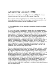 A Sharecrop Contract