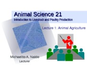 Lecture 01 Animal Agriculture