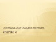 Chapter 3  Leveraging Adult Learner Differences a