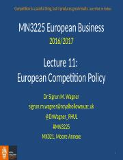 MN3225 Lecture 11 Competition Policy 2016 Moodle Full Version.pptx