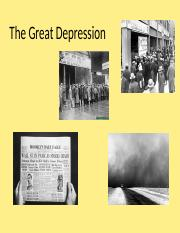 Week 9 The Great Depression