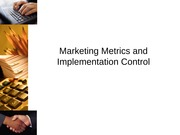 Marketing Metrics and Implementation Control