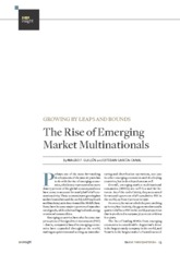 The rise of emergent markets multinationals