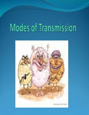 Lesson 9 - Modes of Transmission.ppt