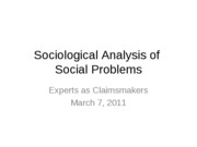 3.7.11 Experts as Claimsmakers_class notes