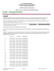 NT1330 March 2015 Lab Assignment, Week 1, Unit 1