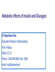 Metabolic Effects