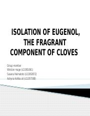 ISOLATION-OF-EUGENOL-THE-FRAGRANT-COMPONENT