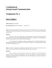 Interpersonal communication assingment 1 Part 1.docx