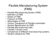 13. Flexible Manufacturing System(FMS)