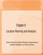 Lecture 9_ CH8 Location Planning