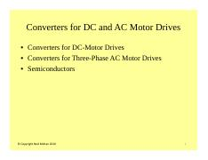 #7 Converters for DC and AC Motors