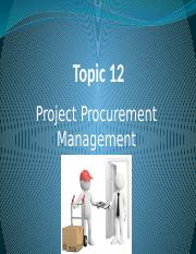 Topic12 Procurement
