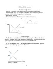 Introduction to Economics Midterm 2 Answers