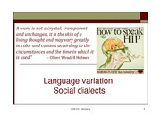 week 8_1 social dialects