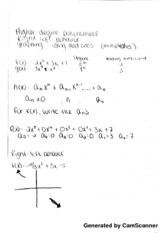 Higher Degree Polynomial Notes