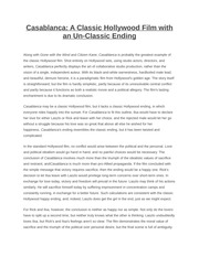 casablanca essay questions Sample queries for search casablanca essay topics on graduateway free casablanca rubrics paper: short casablanca essay brainstorming: casablanca film techniques essays sample: essay titles.