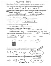 Midterm Review Answers
