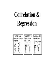 PSY201 Correlation & Regression Class Slides