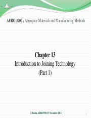 Chapter 13 - Joining Technology (part 1)
