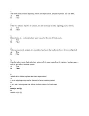 Accounting for Small Business Worksheet Quiz