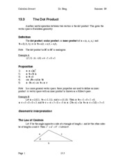 Calculus Notes 13.3
