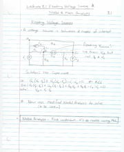 ECE 201 - Handnotes - Lecture 8 - Mesh and Nodal Analysis - F11