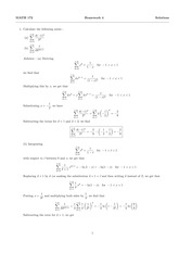 MATH 172 Spring 2014 Homework 4 Solutions