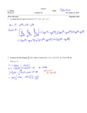 Exam 4 Fall 2013 Solutions