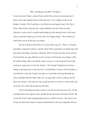 beauty beast fys paper 2