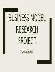 Business Model research project