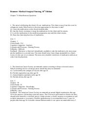 Chapter 73- Miscellaneous Questions