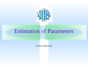 estimation of the parameter
