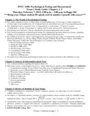 PSYC 3180 Exam 1 Study Guide