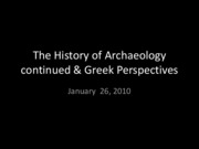 Lecture 2 Greek Perspectives