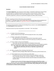A Raisin in the Sun Lecture Checklist (EB).docx