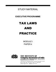 4. Tax Laws and Practice