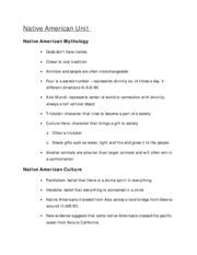 Native American Unit notes