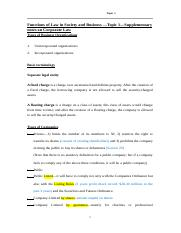 Topic 1-Supplementary notes on Corporate Law (FLSB)(updated) (1).doc