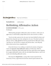 Leonhardt, Rethinking Affirmative Action - The New York Times