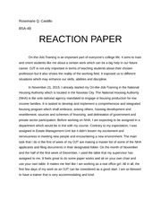 business seminar reaction paper I have to make a reaction paper on the seminar we just have attended but i don't know how will i start it can you give me some guide or format how to make it, please.
