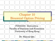 10) Binomial Option Pricing- part I