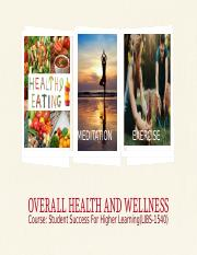 OVERALL HEALTH AND WELLNESS.pptx